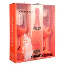 Kit Espumante Chandon Passion Rosé com 2 Taças